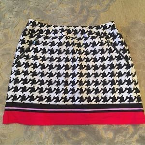 Tail Houndstooth Print Golf Skirt Large